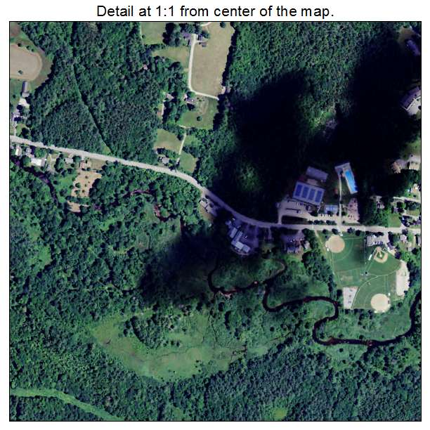 Peterborough, New Hampshire aerial imagery detail