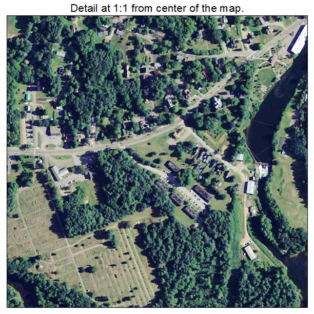 Tilton Northfield, New Hampshire aerial imagery detail