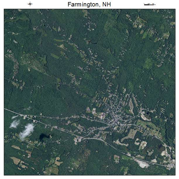 Farmington, NH air photo map