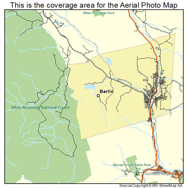 Aerial Photography Map Of Berlin NH New Hampshire - Berlin nh map