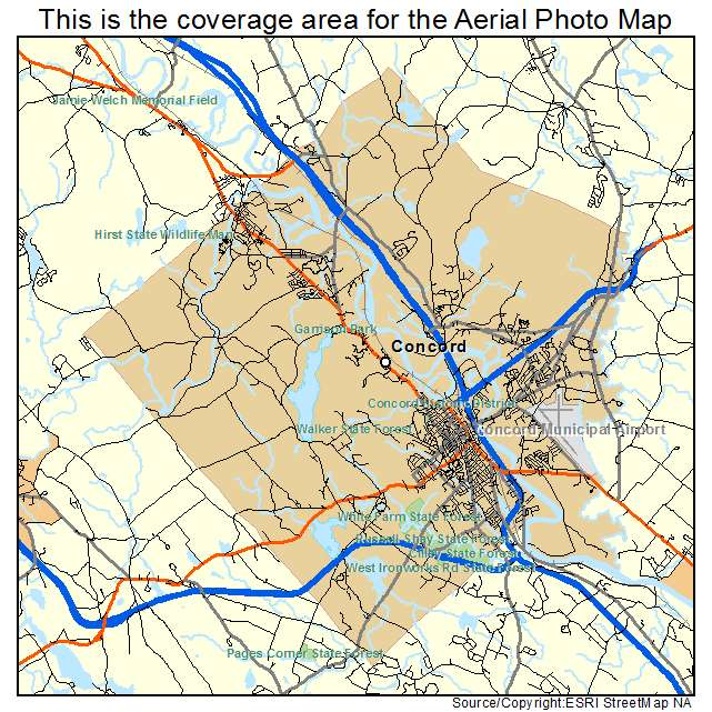 Aerial Photography Map Of Concord NH New Hampshire