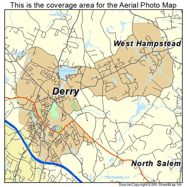 Derry, NH location map