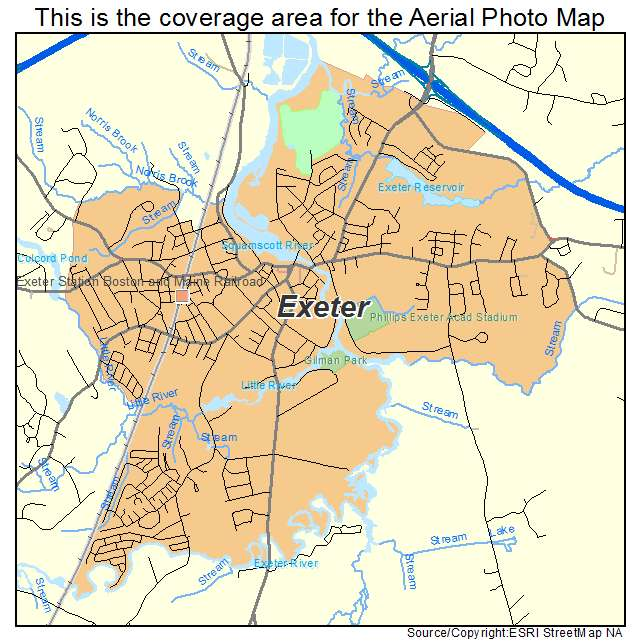 Aerial Photography Map of Exeter NH New Hampshire