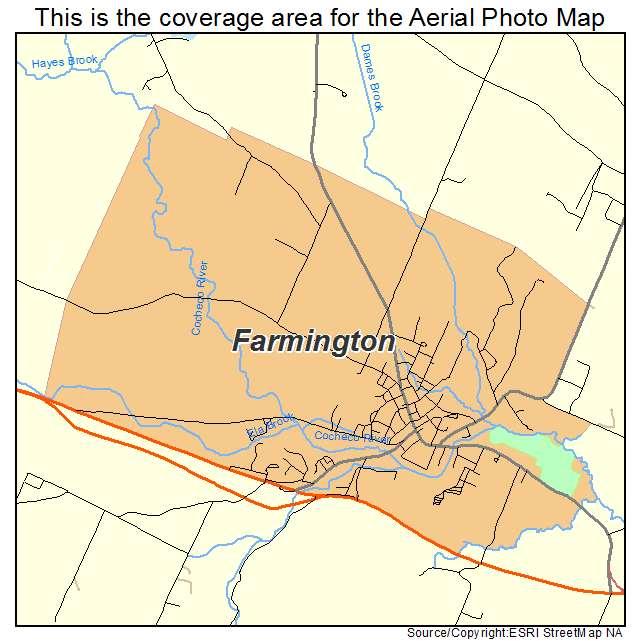 Farmington, NH location map