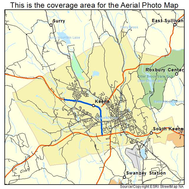 Aerial Photography Map Of Keene NH New Hampshire