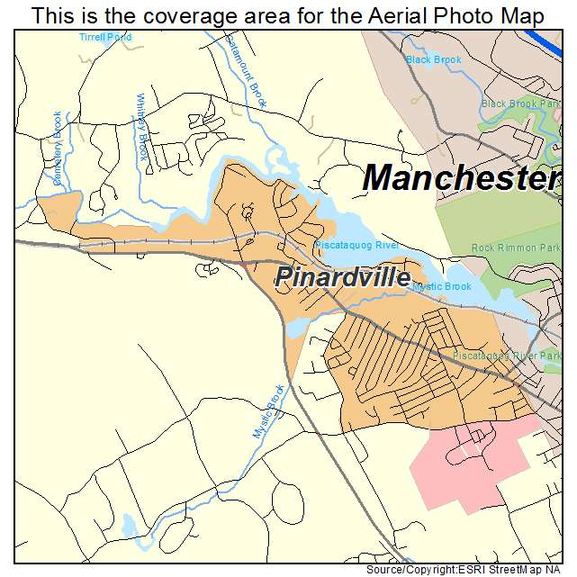 Pinardville, NH location map