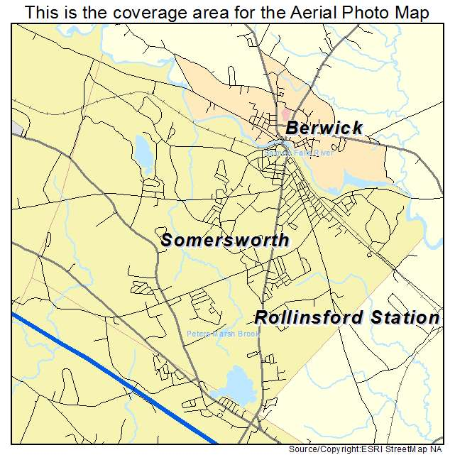 Aerial Photography Map of Somersworth NH New Hampshire