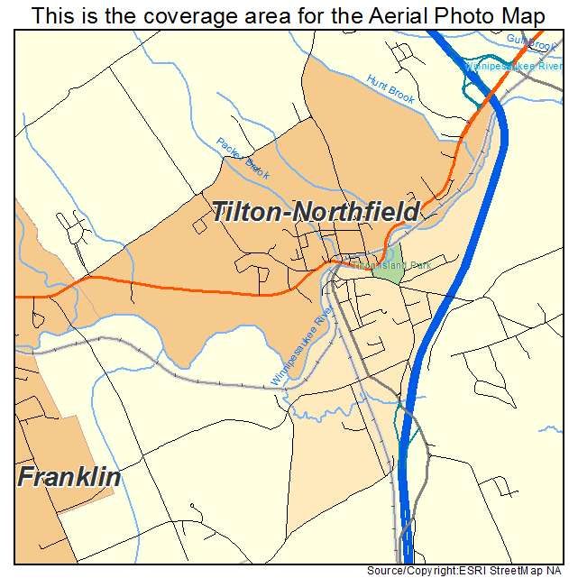 Tilton Northfield, NH location map