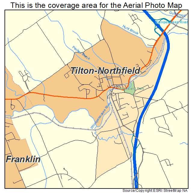 Tilton Northfield, NH location map