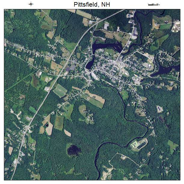 Pittsfield, NH air photo map