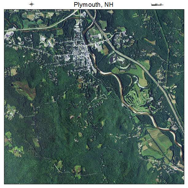 Plymouth, NH air photo map
