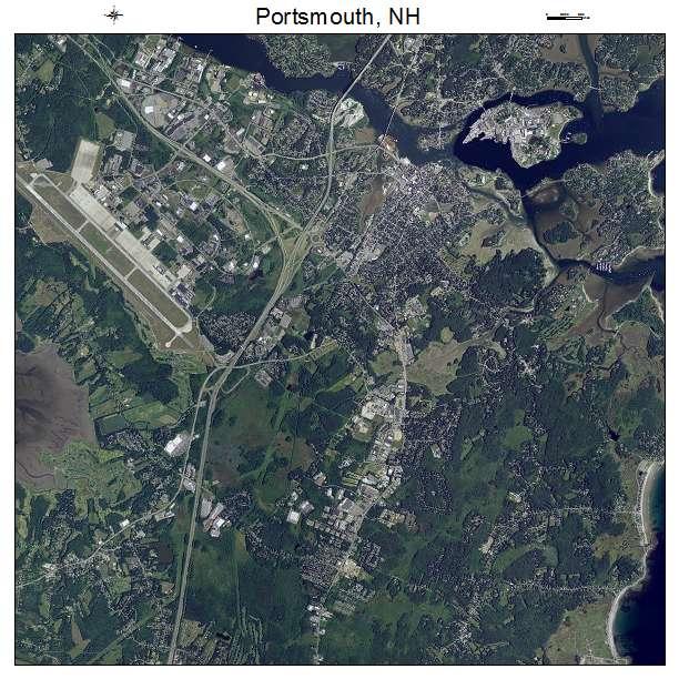 Portsmouth, NH air photo map