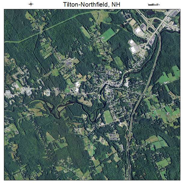 Tilton Northfield, NH air photo map