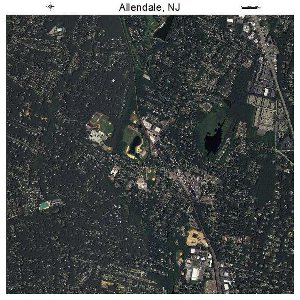 Allendale, NJ air photo map