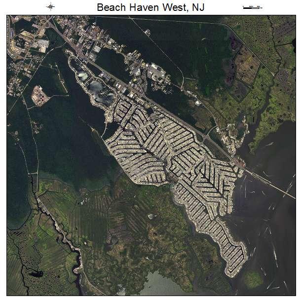 Beach Haven West, NJ air photo map