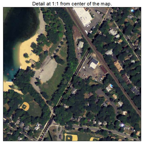 Allendale, New Jersey aerial imagery detail