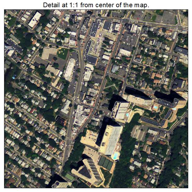 Fort Lee, New Jersey aerial imagery detail