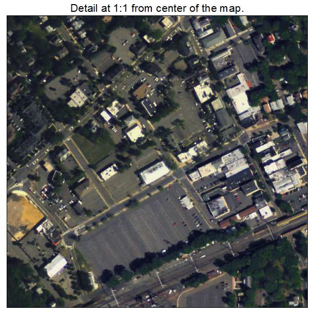 Metuchen, New Jersey aerial imagery detail