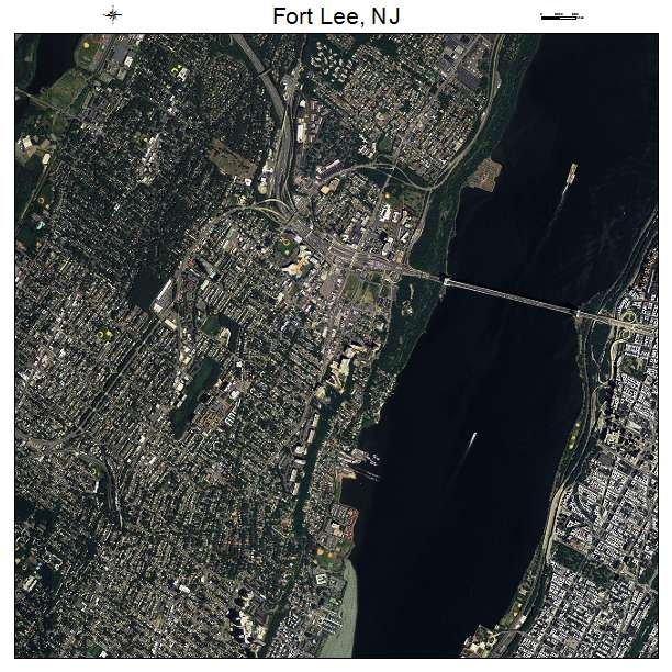 Fort Lee, NJ air photo map