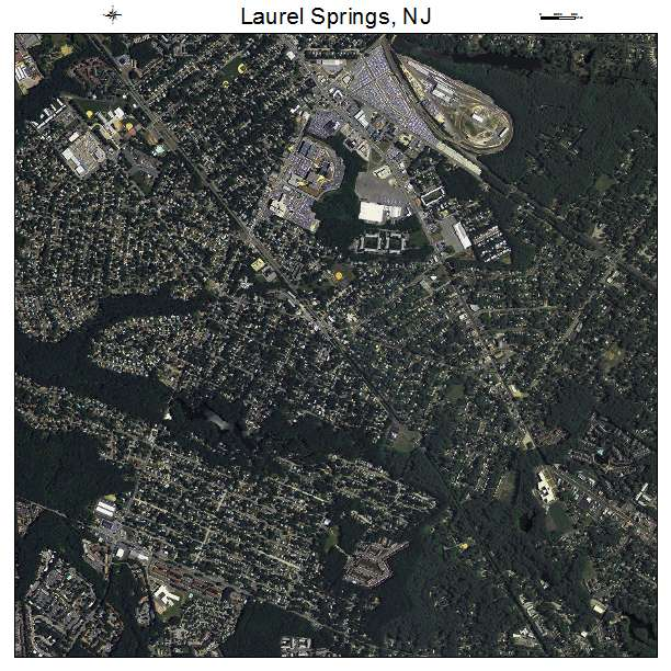 Aerial Photography Map Of Laurel Springs Nj New Jersey