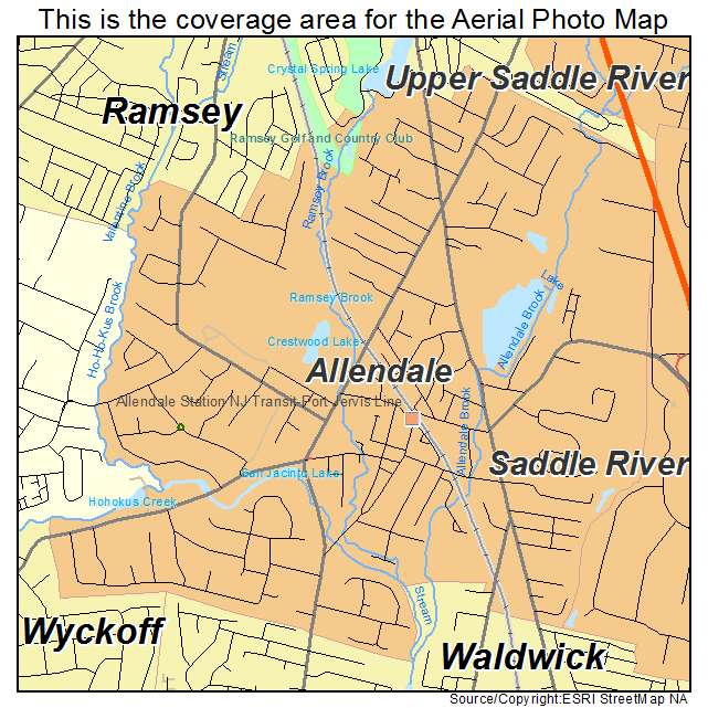 Allendale, NJ location map