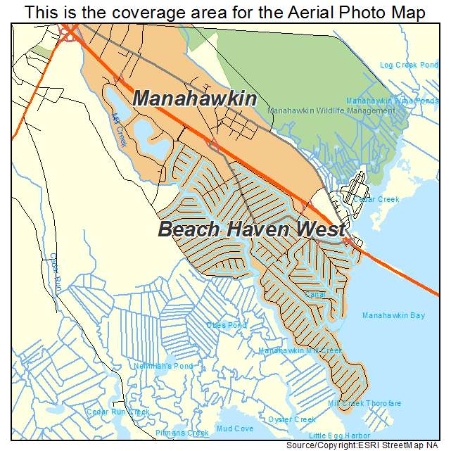 Beach Haven West, NJ location map