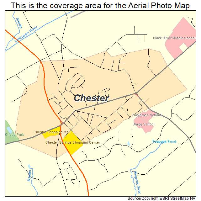 Chester New Jersey Map.Aerial Photography Map Of Chester Nj New Jersey