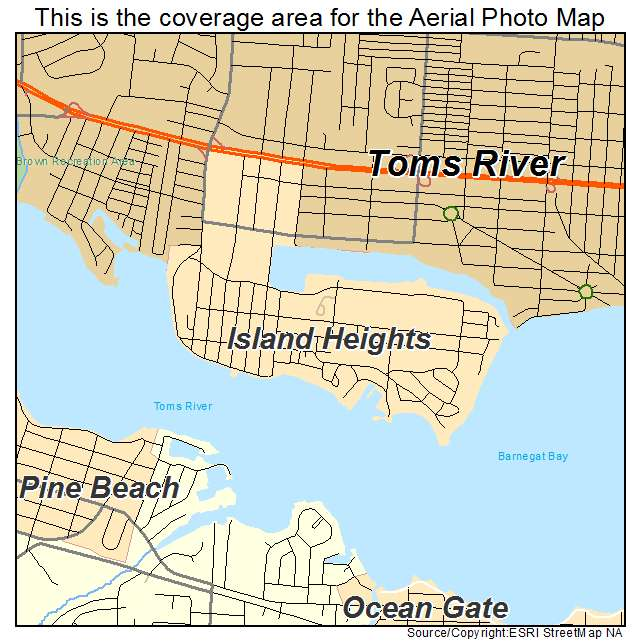 Island Heights Nj Map Aerial Photography Map of Island Heights, NJ New Jersey