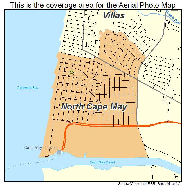 Aerial Photography Map Of North Cape May NJ New Jersey