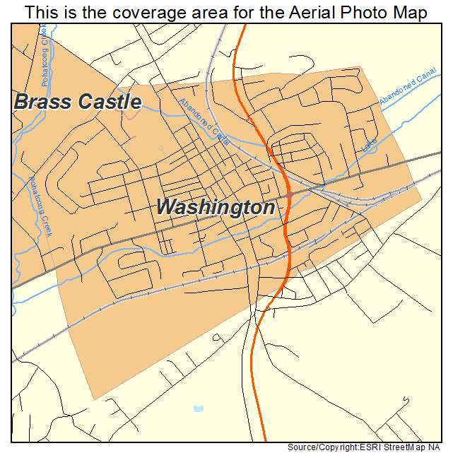 Aerial Photography Map Of Washington NJ New Jersey