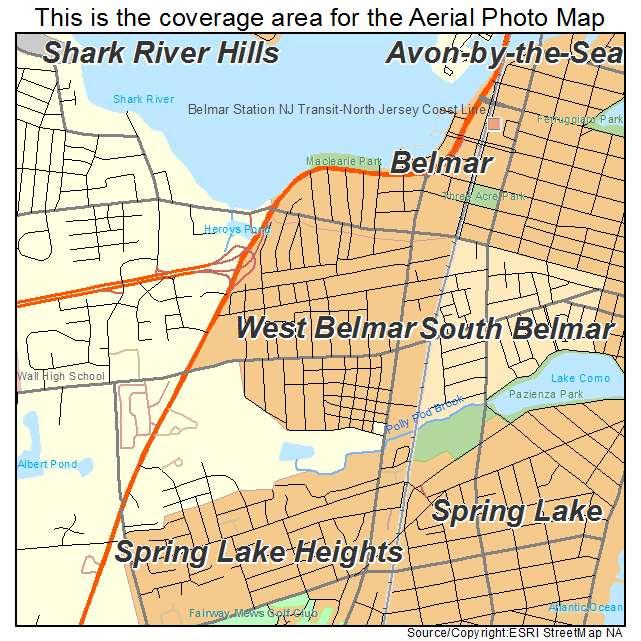 Belmar Beach nj Map West Belmar nj Map