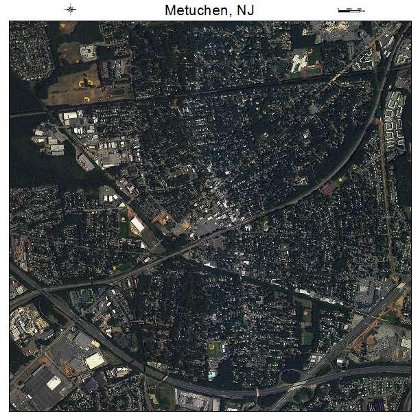 Metuchen, NJ air photo map