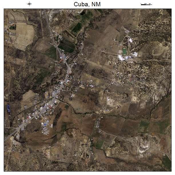 Cuba, NM air photo map