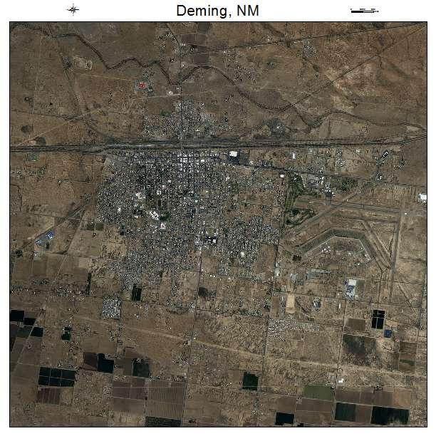 Deming, NM air photo map