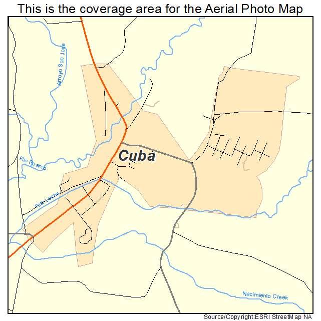 Cuba, NM location map