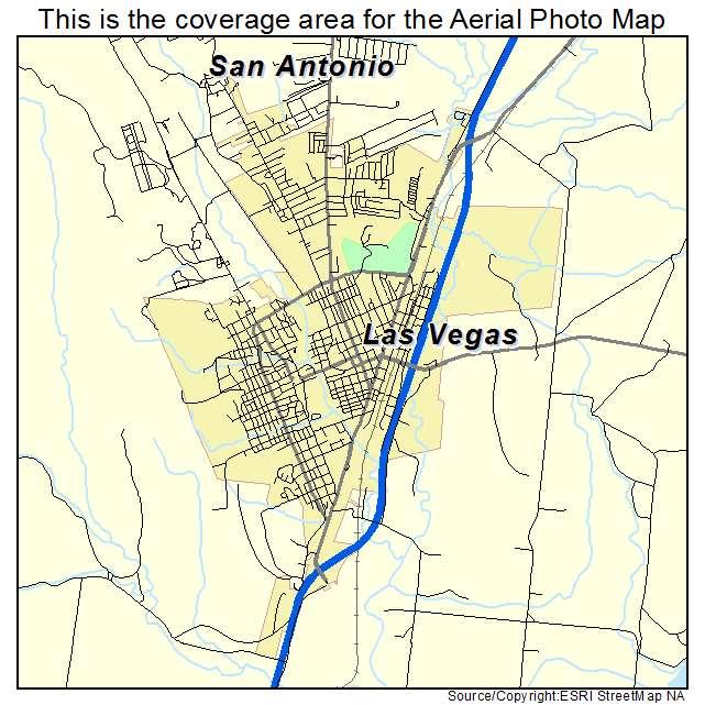 Las Vegas Nm Map Aerial Photography Map of Las Vegas, NM New Mexico