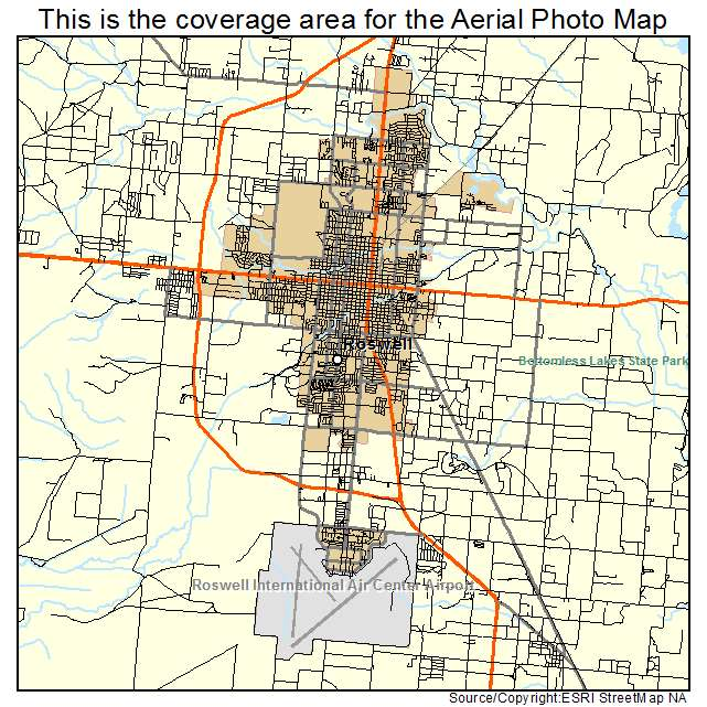 Roswell New Mexico Street Map 3564930 Pictures To Pin On