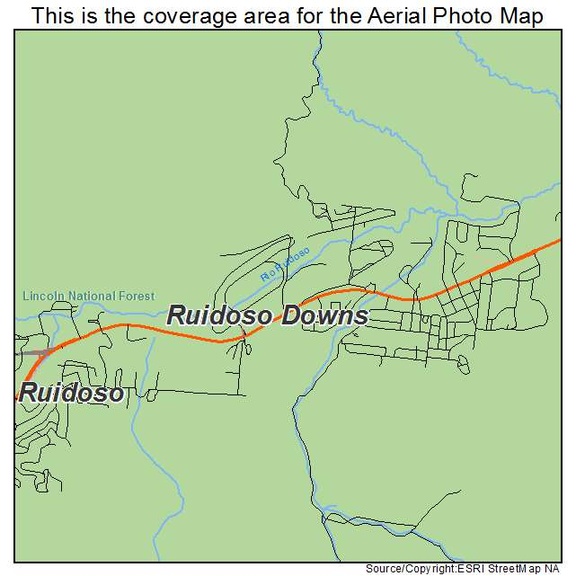 Aerial Photography Map Of Ruidoso Downs NM New Mexico