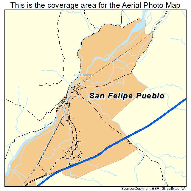 San Felipe Pueblo, NM location map