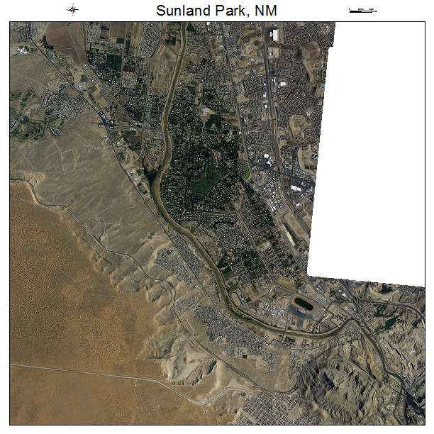 Sunland Park, NM air photo map