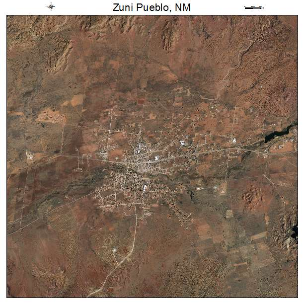 Aerial Photography Map Of Zuni Pueblo NM New Mexico
