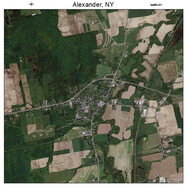 Alexander, NY air photo map