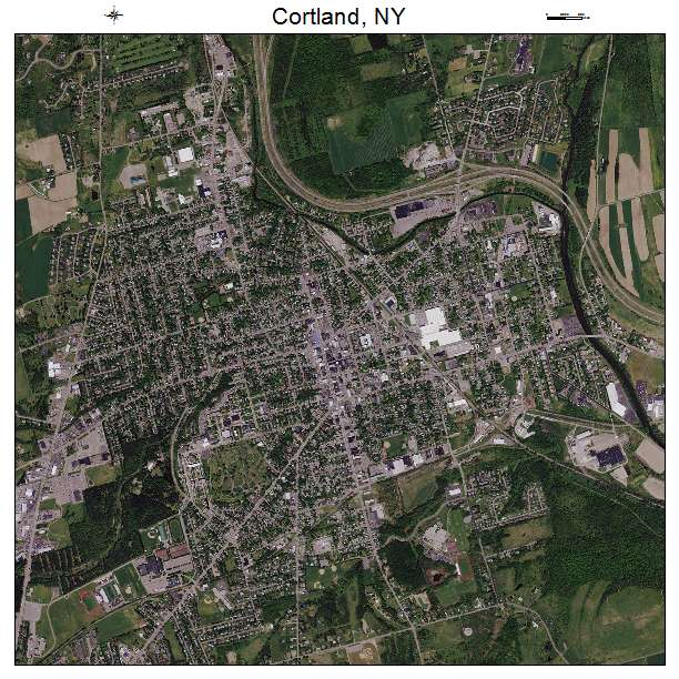 Town Center By Cortland: Aerial Photography Map Of Cortland, NY New York