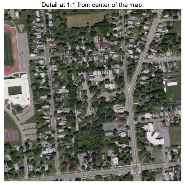Aerial Photography Map of Bath, NY New York