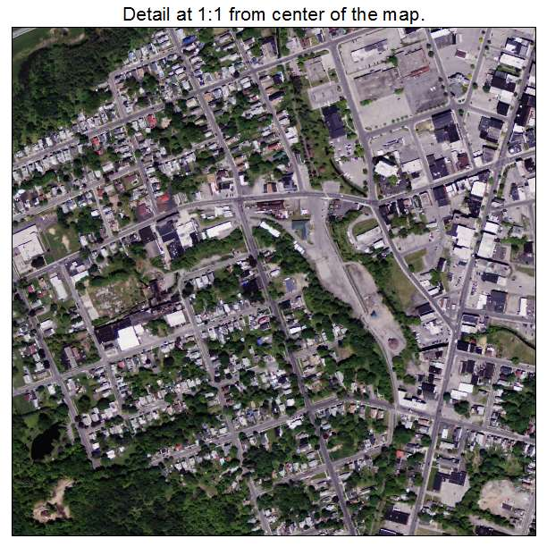 Aerial Photography Map of Gloversville, NY New York