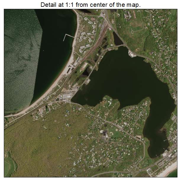 Montauk, New York aerial imagery detail