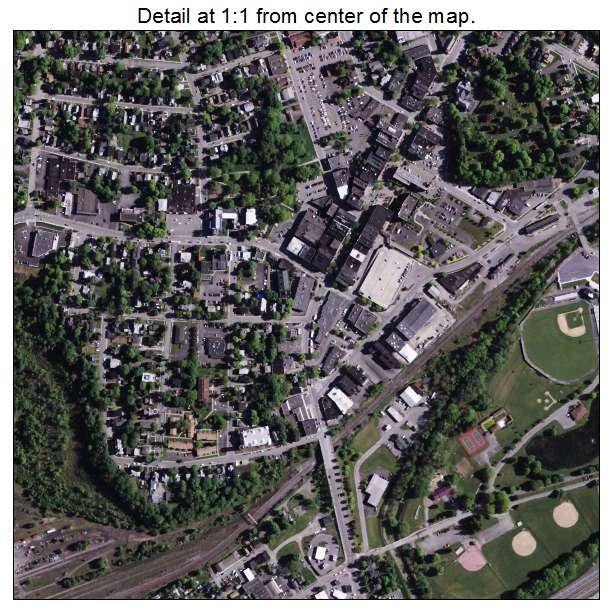 Oneonta, New York aerial imagery detail