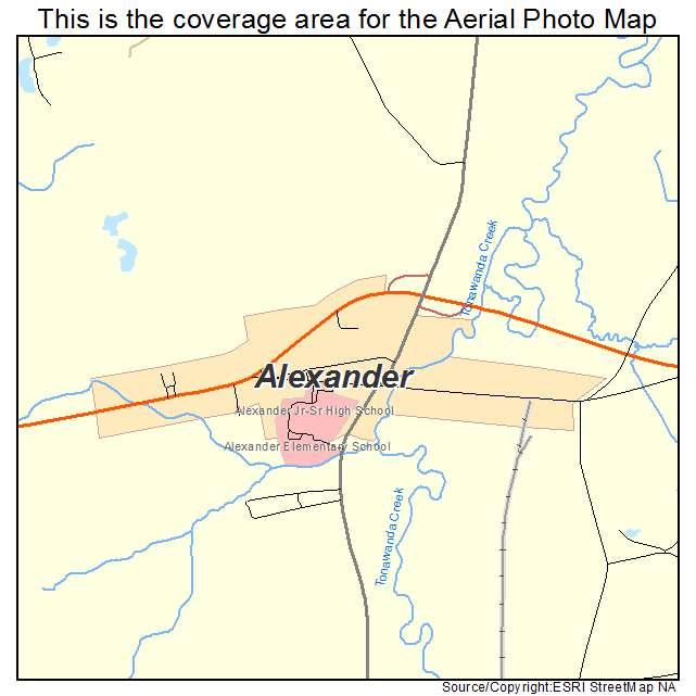 Alexander, NY location map