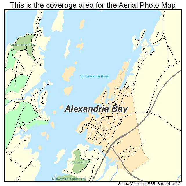 Aerial Photography Map of Alexandria Bay NY New York