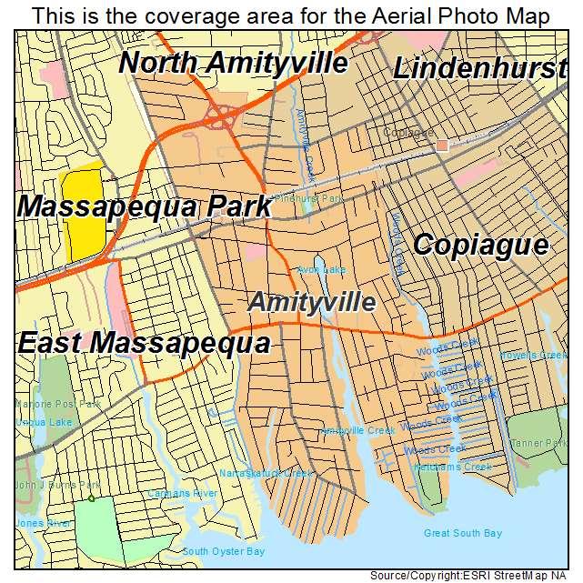 Amityville New York Map.Aerial Photography Map Of Amityville Ny New York